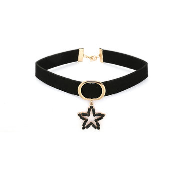 Women's Elegant Choker Star Flannel Clavicle Necklace