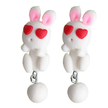 Cartoon Cat Rabbit Piranha Squirrel Fox Stud Earrings
