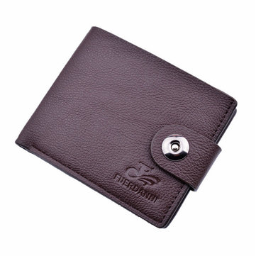 Business PU Leather Wallet Casual Portable Card Holder Coin Bag For Men