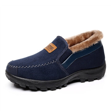 Suede Sport Warm Fur Lining Non-Slip Casual Boots For Men