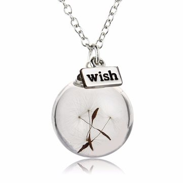 Dandelion Wish Pendant Necklace