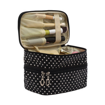 Double Layers Cosmetic Bag