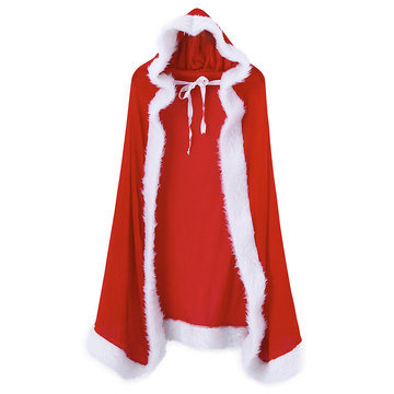 Sexy Princess Christmas Costume Cosplay Red Hooded Cape For Women