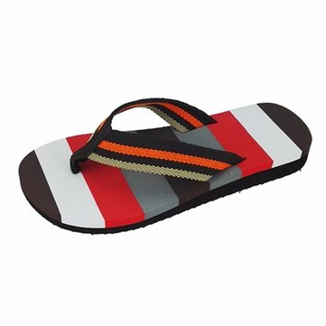 Men Flip Flops Color Match Clip Toe Beach Slippers
