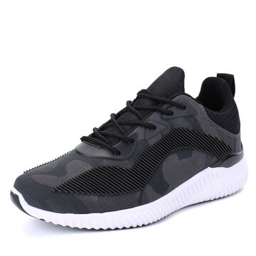 Men Mesh Fabric Color Blocking Breathable Running Shoes Casual Sneakers