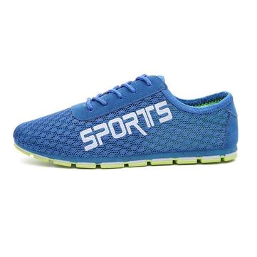 Мужская сетчатая ткань Breathable Flat Sport Running Casual Shoes