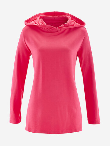 Solid Color Hooded Women Hoodie