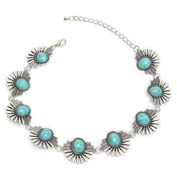 Божественное ожерелье с бирюзовым бирюзовым серебром