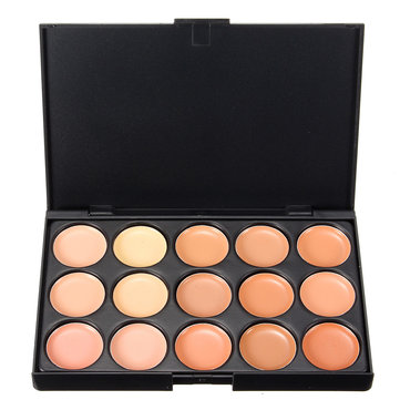 15 Colors Professional Face Cosmetic Cream Facial Concealer Palette
