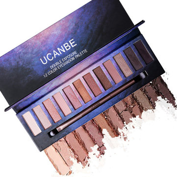 UCNABE 12 цветов Shimmer Matte Eyeshadow Palette Pigment Naked Sparkle Golden Sleek Smokey Eye Shado