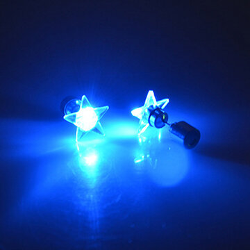 1 Pair LED Glowing Earrings