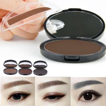 Makeup Eyebrow Gel Brow Stamp Grey Brown Powder Seal Waterproof Eyes Cosmetic Tools 3 Colors