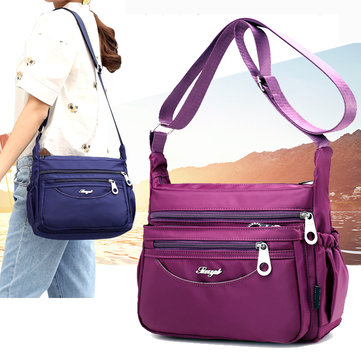Casual Multi-Pockets Light Shoulder Bags Outdoor Travel Waterproof Crossbody Bags For Women
