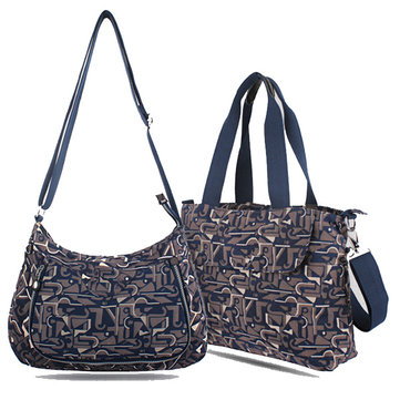 Women Print Nylon Crossbody Bag Handbag Geometry Bag