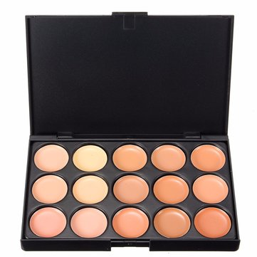Professional 15 Colors Face Concealer Eyeshadow Cream Camouflage Makeup Palette