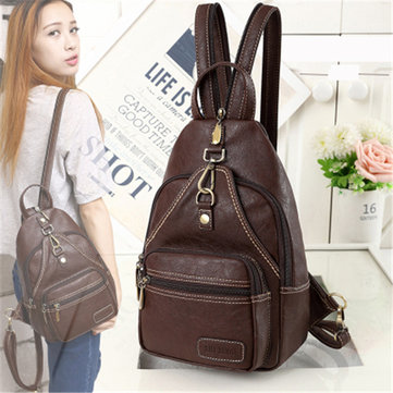 Women Vintage Daily Outdoor Portable Chest Bag
