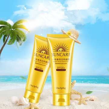 Waterproof Sunscreen Sunblock Cream SPF30 UV Protection Concealer Face and Body Makeup 80g