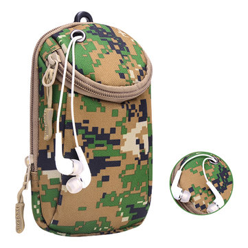Waterproof Dacron Outdoor Phone Bag Camouflage Arm Bag Waist Bag For Smartphone