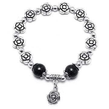 Bracelete de cristal de prata Bracelete de cristal da pérola para mulheres