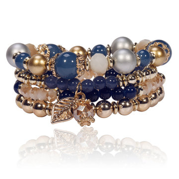 Multilayer Crystal Bead Bracelet