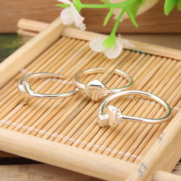 Trendy S925 Sterling Silver Women Jump Ring