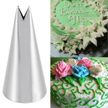 Leaf Shape Icing Nozzles Cake Decor Pastry Tips Sugarcraft Cupcakes Baking Tools
