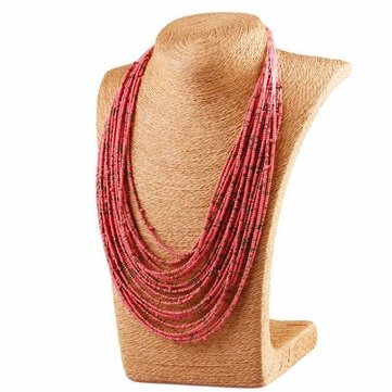 Bohemian Tassel Necklace Vintage Multilayer Beads Sweater Necklace