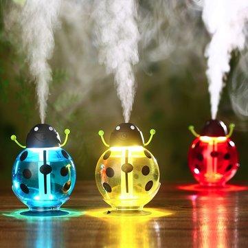 Портативный мини-светодиодный Beatles USB Air Ультразвуковой увлажнитель Night Light Aroma Mist Maker 3 цвета