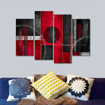 Unframed Red Black Modern Abstract Art Oil Painting Canvas Wall Decor