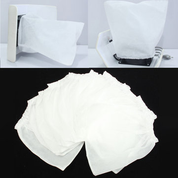 10 Pcs Non-woven Replacement Bags For Nail Art Machine Dust Suction Collector White