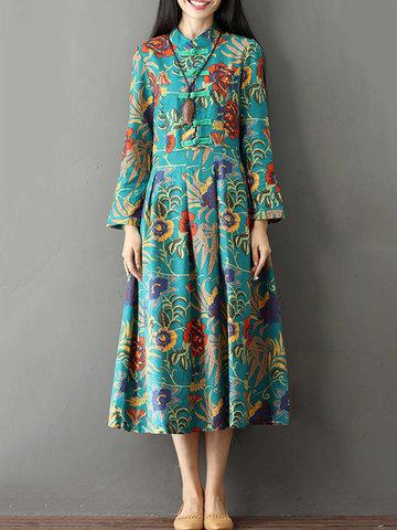 Vintage Printed Women Dresses