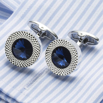Men Austrian Crystal Cufflinks Wedding Party Suit Geometrical Cufflinks
