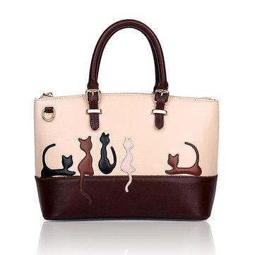 Women Animal Contrast Color Handbags Rabbit Cat Pattern Crossbody Bags Shuolder bags